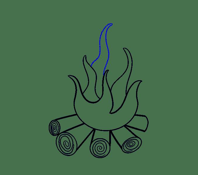 Cách vẽ lửa: Bước 10