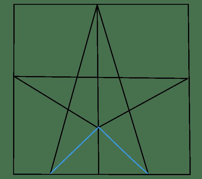 Cách vẽ sao: Bước 4