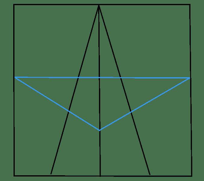 Cách vẽ sao: Bước 3