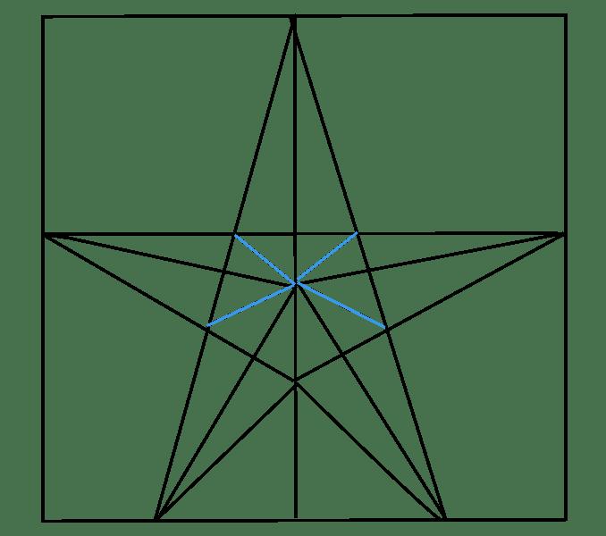 Cách vẽ sao: Bước 7