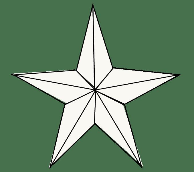 Cách vẽ sao: Bước 8