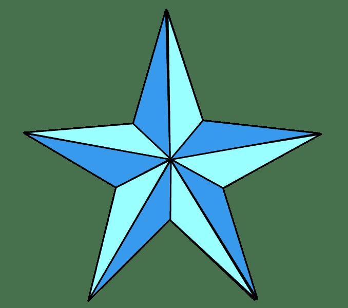 Cách vẽ sao: Bước 9