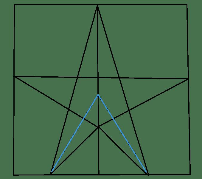 Cách vẽ sao: Bước 5