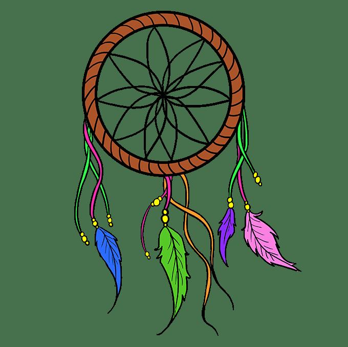 Cách vẽ Người bắt giấc mơ: Bước 10