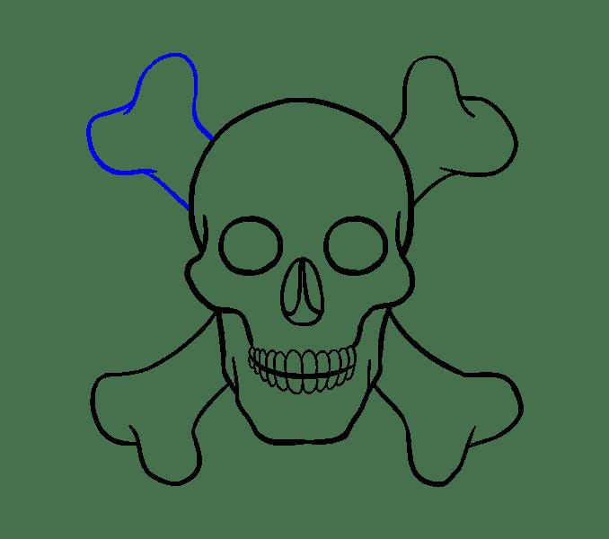 Cách vẽ hộp sọ: Bước 18