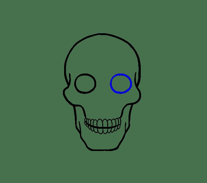 Cách vẽ hộp sọ: Bước 12
