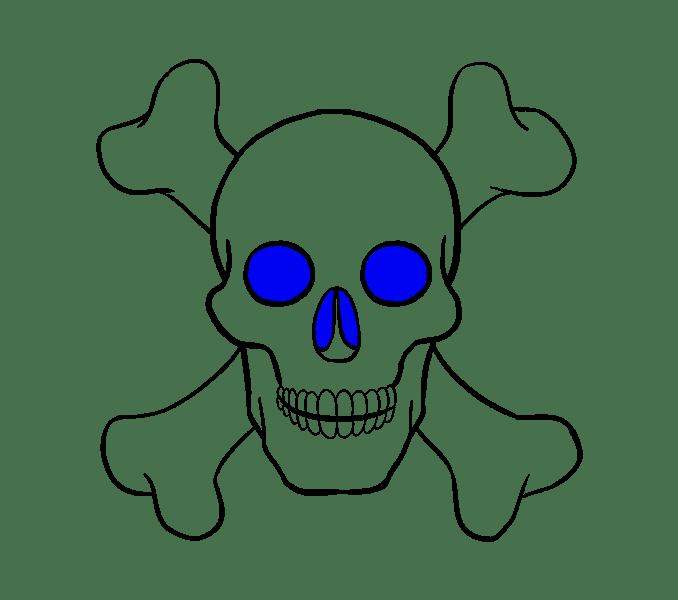 Cách vẽ hộp sọ: Bước 19