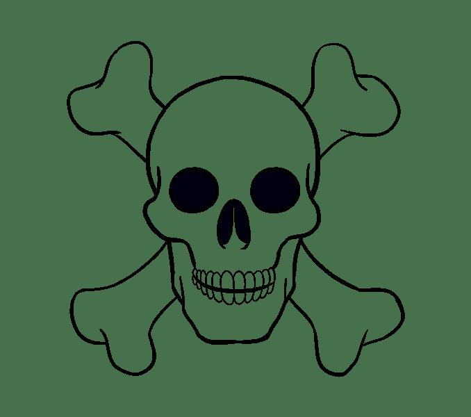 Cách vẽ hộp sọ: Bước 20