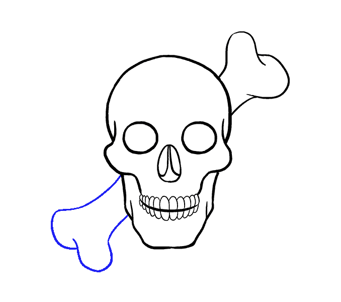 Cách vẽ hộp sọ: Bước 16