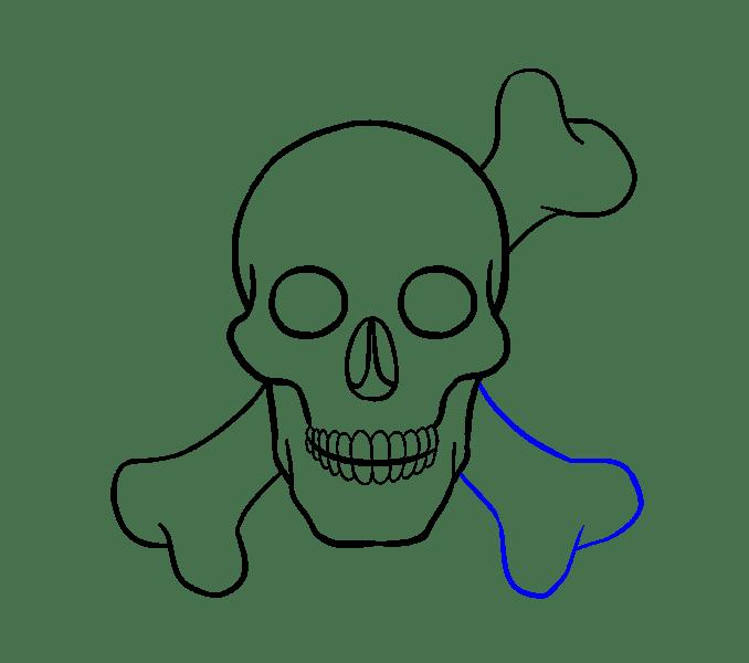 Cách vẽ hộp sọ: Bước 17