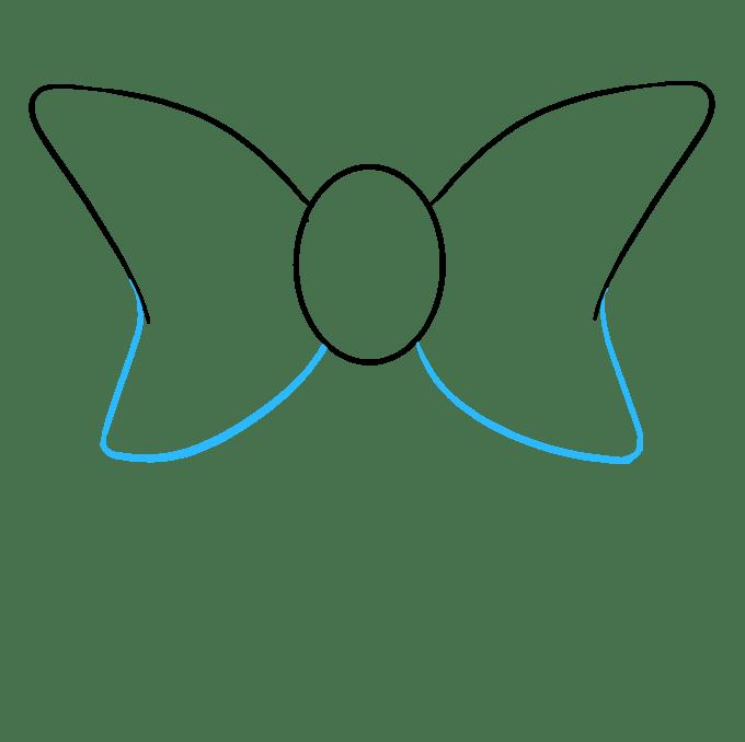 Cách vẽ nơ nơ: Bước 4