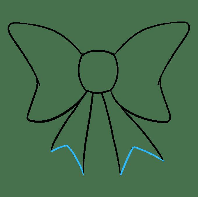 Cách vẽ nơ nơ: Bước 8