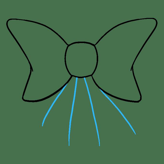 Cách vẽ nơ nơ: Bước 7