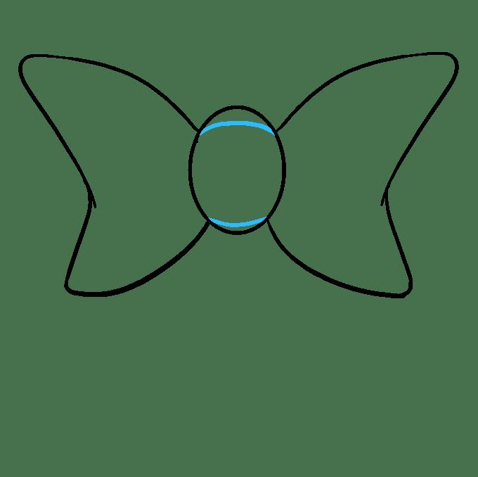 Cách vẽ nơ nơ: Bước 5