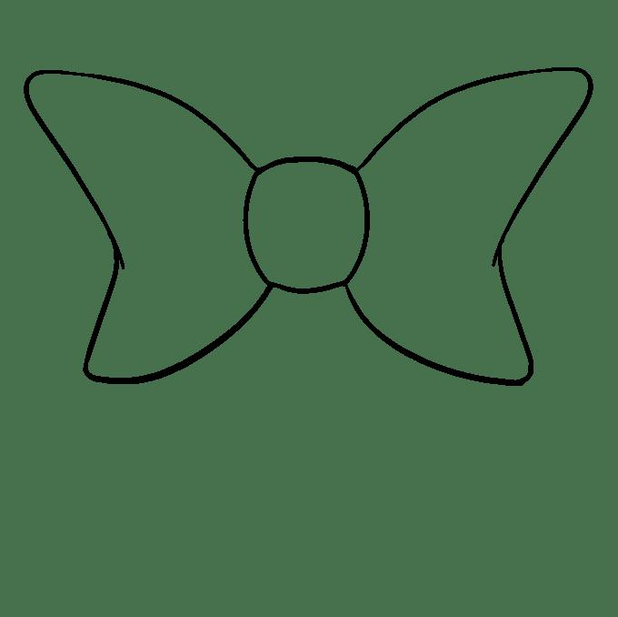 Cách vẽ nơ nơ: Bước 6