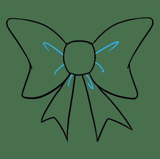 Cách vẽ nơ nơ: Bước 9