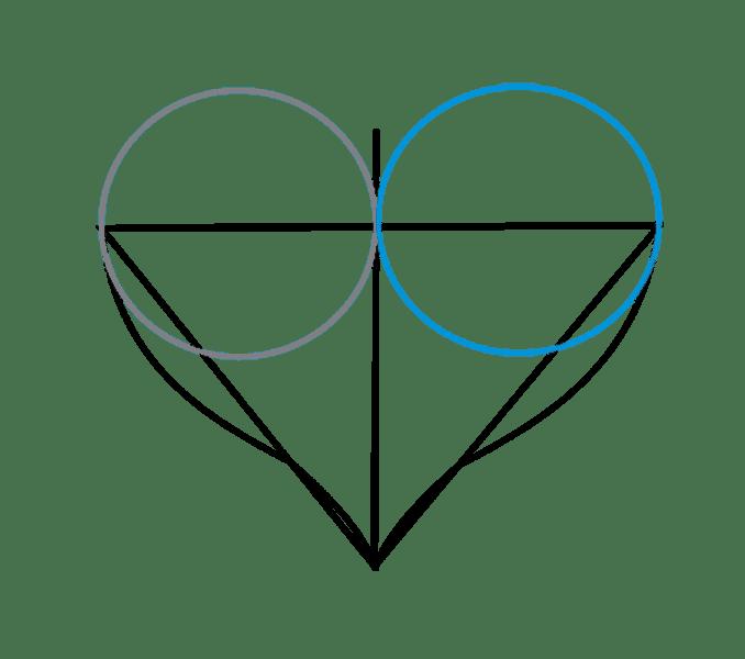 Cách vẽ trái tim: Bước 6