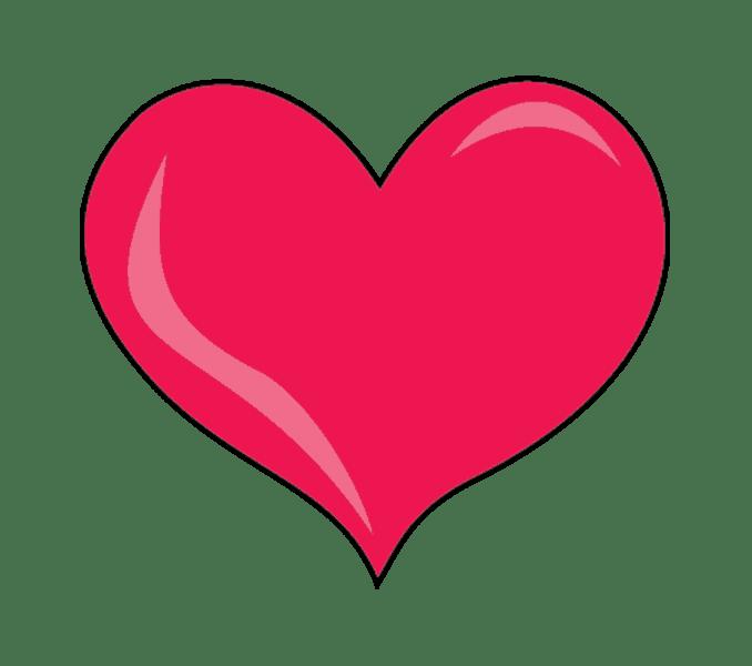 Cách vẽ trái tim: Bước 8