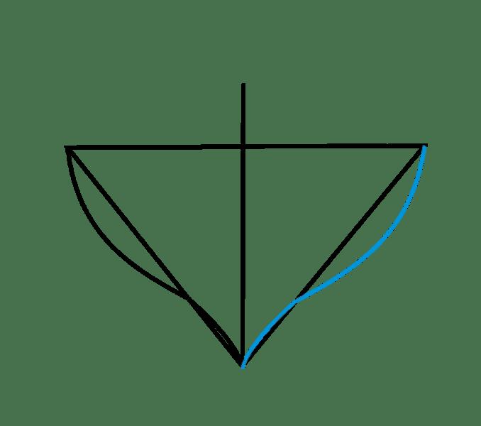Cách vẽ trái tim: Bước 4