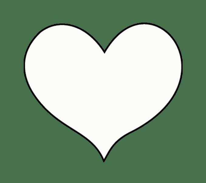 Cách vẽ trái tim: Bước 7