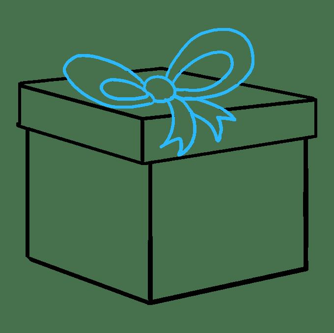 Cách vẽ quà Giáng sinh: Bước 8