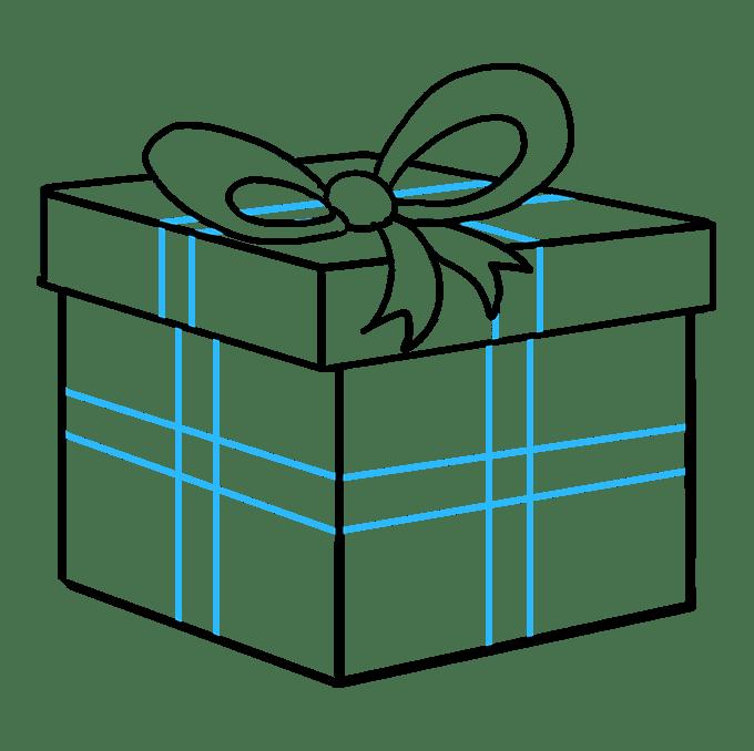 Cách vẽ quà Giáng sinh: Bước 9
