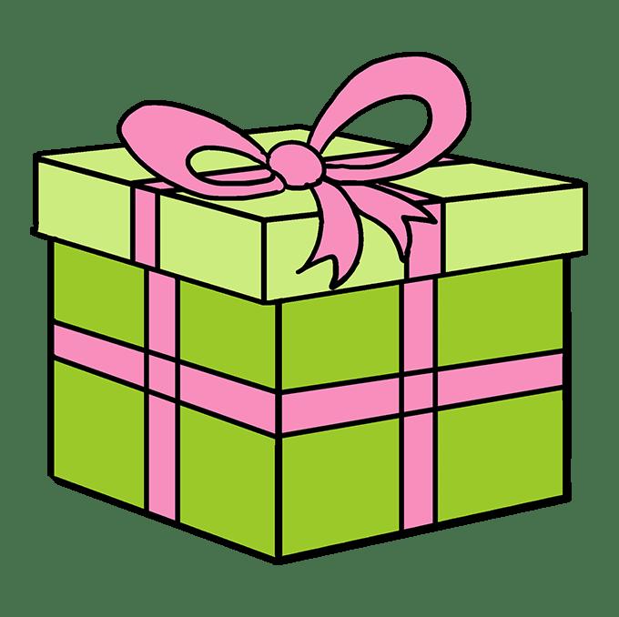 Cách vẽ quà Giáng sinh: Bước 10