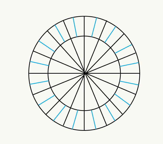 Cách vẽ mặt trời hoạt hình: Bước 5