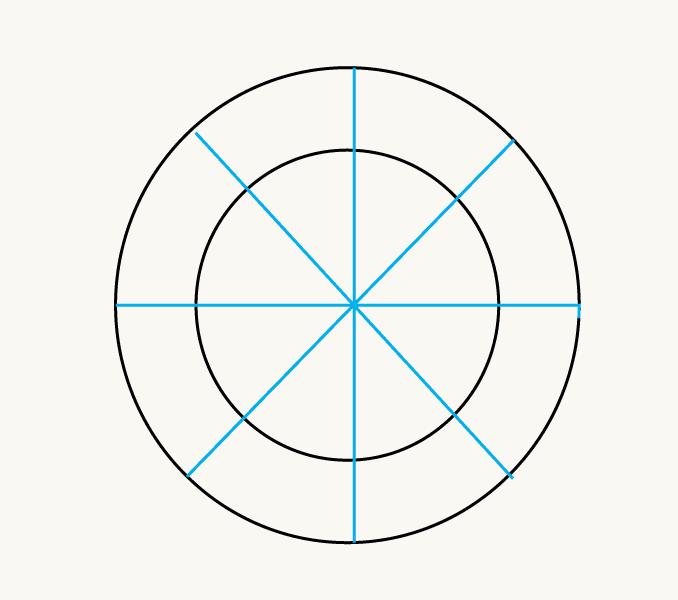 Cách vẽ mặt trời hoạt hình: Bước 3