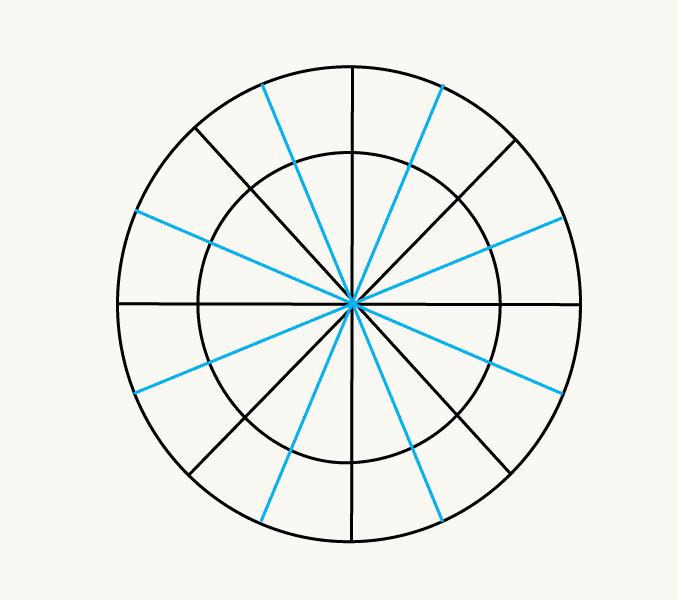 Cách vẽ mặt trời hoạt hình: Bước 4