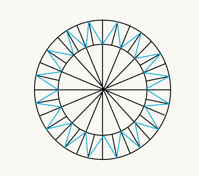 Cách vẽ mặt trời hoạt hình: Bước 6