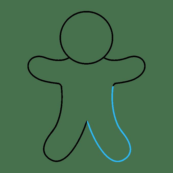 Cách vẽ Gingerbread Man: Bước 5