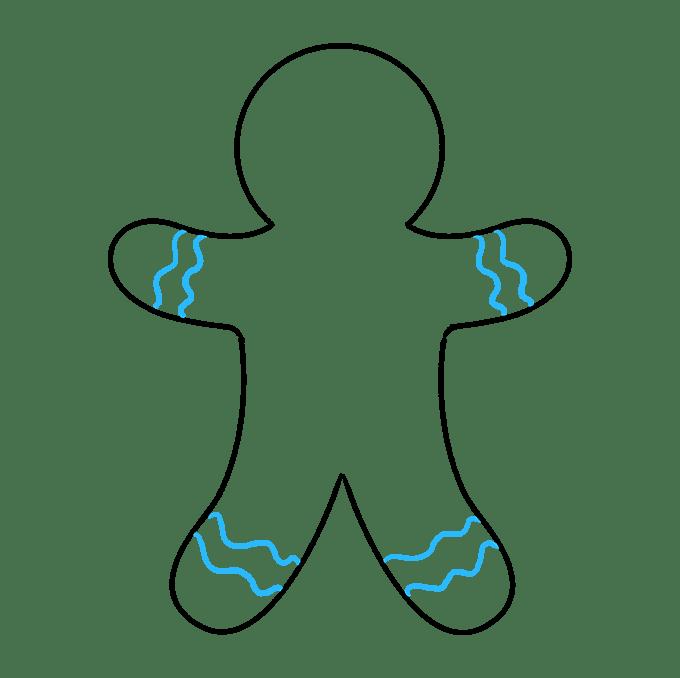 Cách vẽ Gingerbread Man: Bước 7