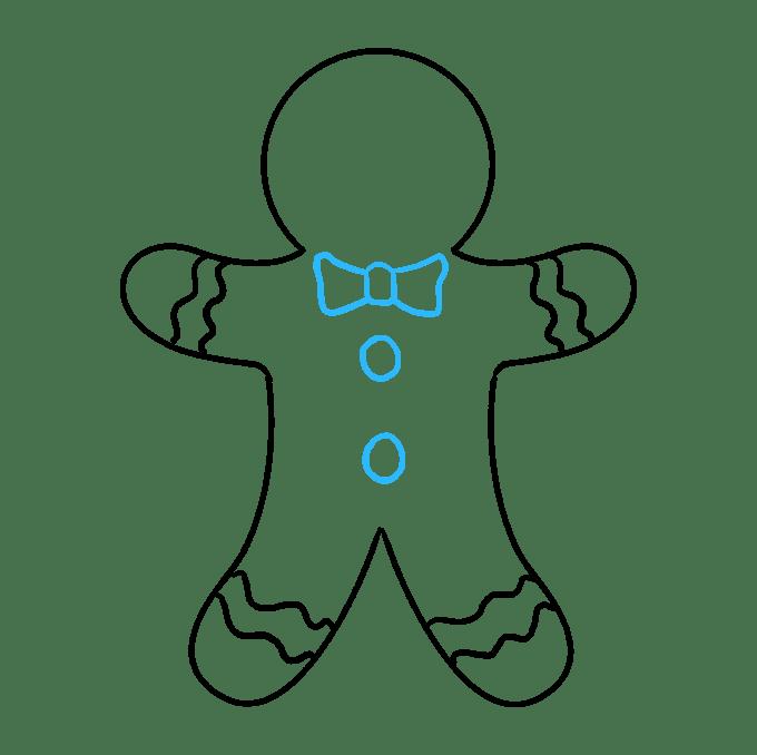 Cách vẽ Gingerbread Man: Bước 8