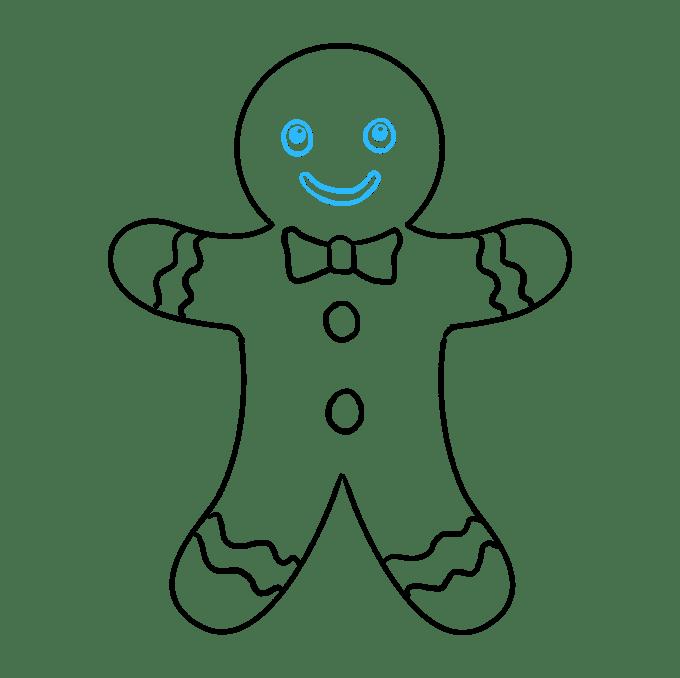 Cách vẽ Gingerbread Man: Bước 9