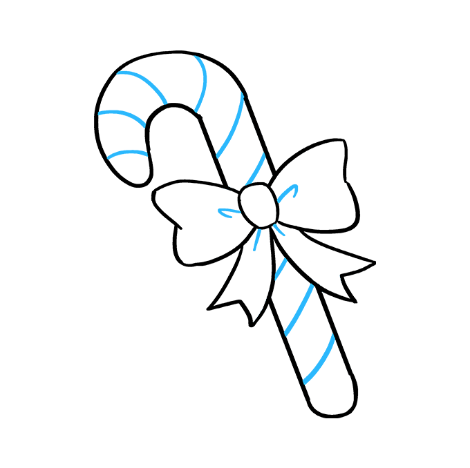 Cách vẽ kẹo mía: Bước 9