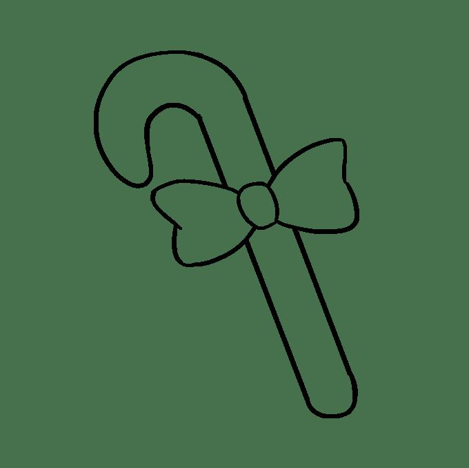 Cách vẽ kẹo mía: Bước 6