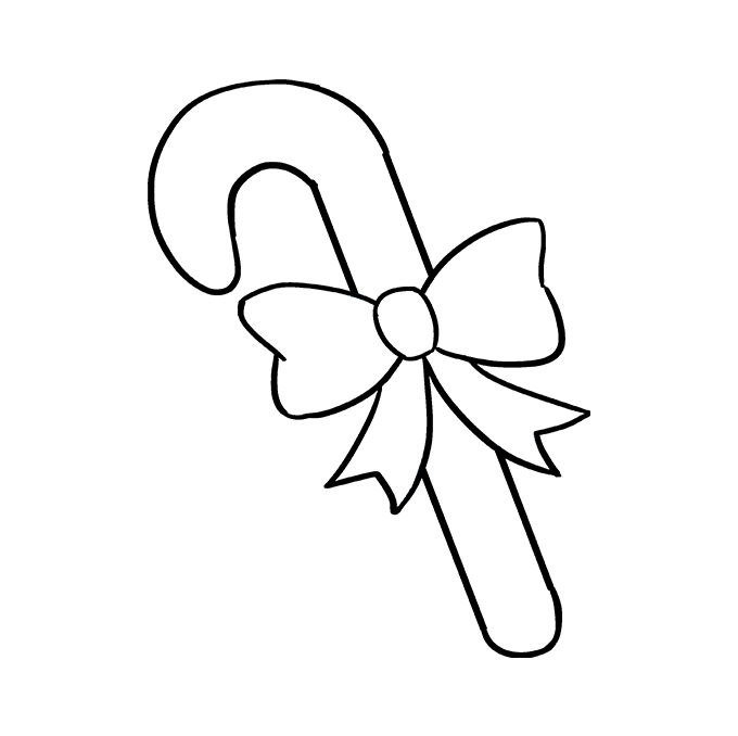 Cách vẽ kẹo mía: Bước 8