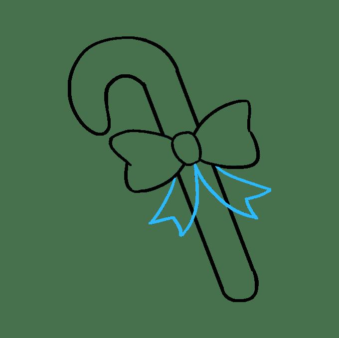 Cách vẽ kẹo mía: Bước 7