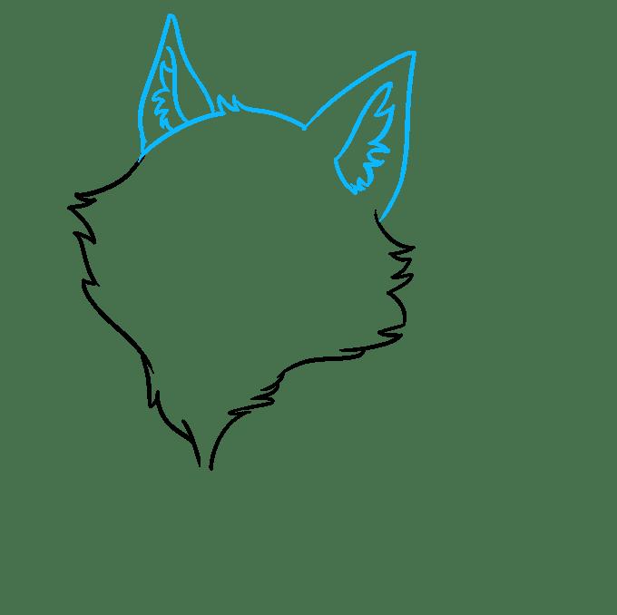 Cách vẽ Sói Chibi: Bước 2