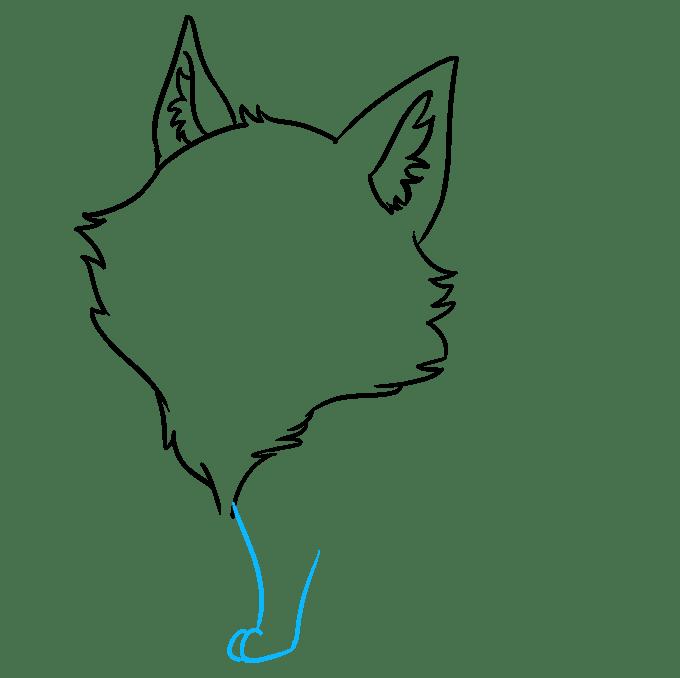 Cách vẽ Sói Chibi: Bước 3