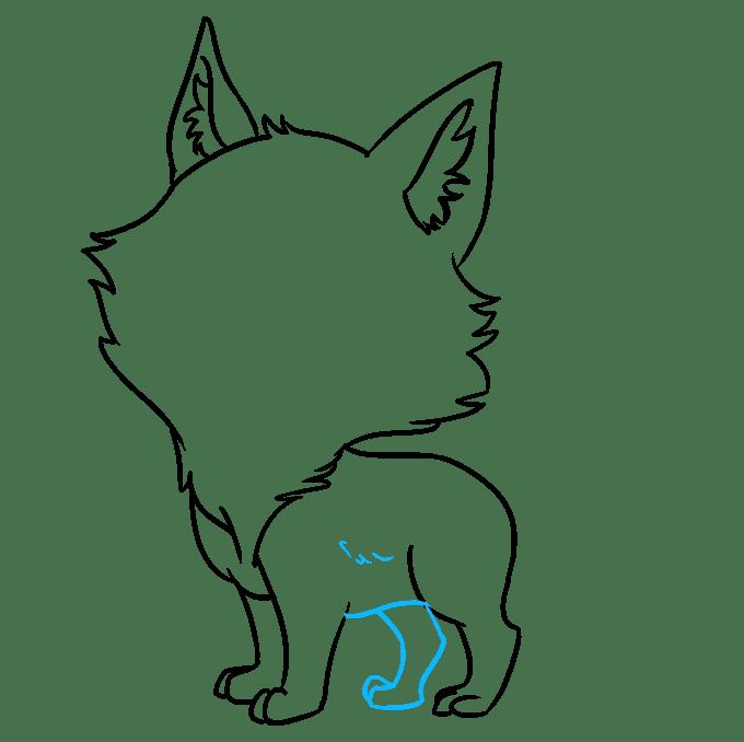 Cách vẽ Sói Chibi: Bước 6