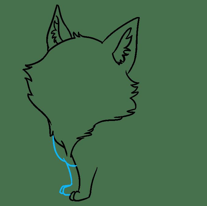 Cách vẽ Sói Chibi: Bước 4