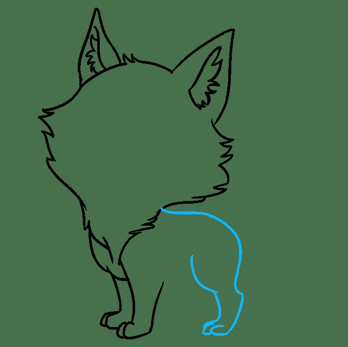 Cách vẽ Sói Chibi: Bước 5