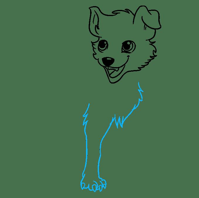 Cách vẽ chó Anime: Bước 6