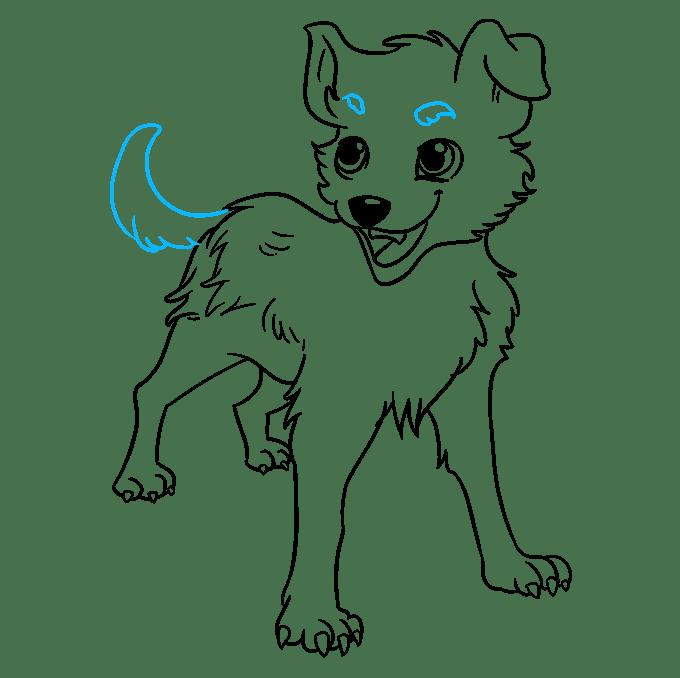 Cách vẽ chó Anime: Bước 9