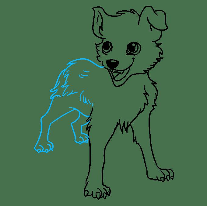 Cách vẽ chó Anime: Bước 8