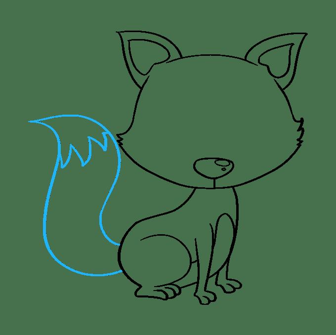 Cách vẽ con cáo con: Bước 7