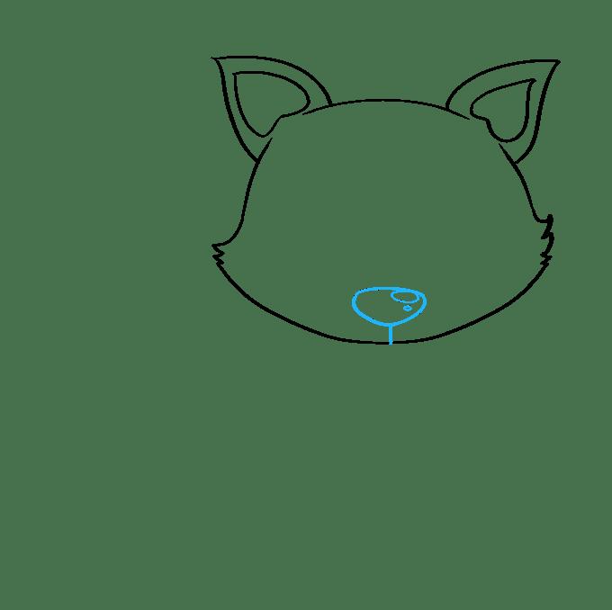 Cách vẽ con cáo con: Bước 3