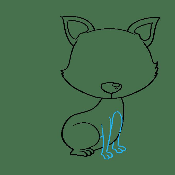 Cách vẽ con cáo con: Bước 6